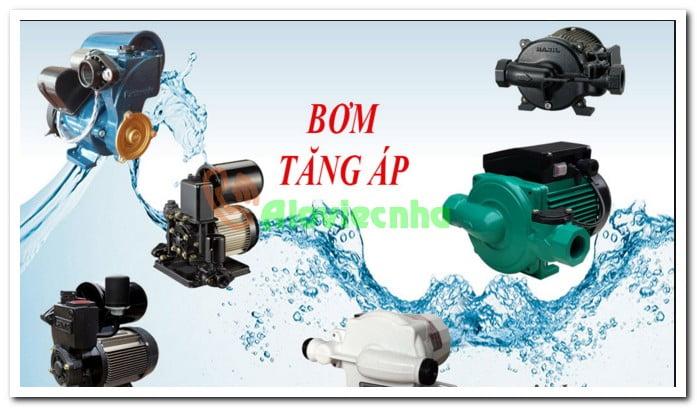 Các loại máy bơm tăng áp thường dùng