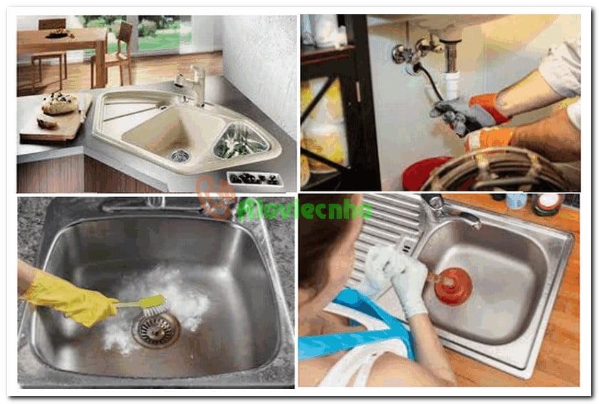 Những dụng cụ thông nghẹt chậu rửa chén