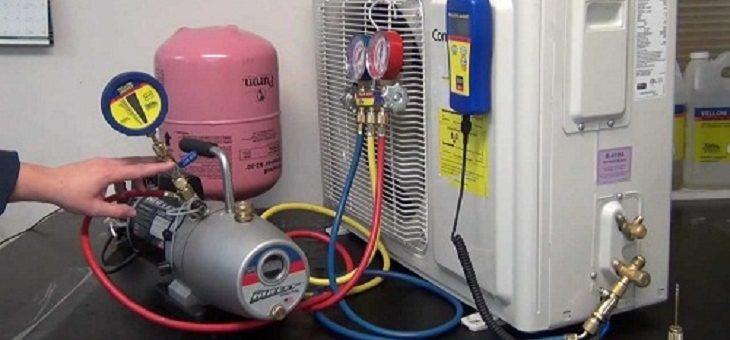 Bơm gas máy lạnh giá rẻ tại TPHCM