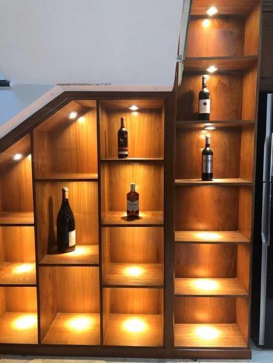 Thi công đèn led tủ rượu